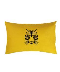 Petit Coussin Moutarde Tigre Noir