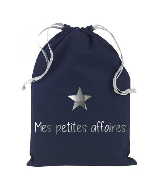 """Pochette """"mes petites affaires"""" Marine Argent"""