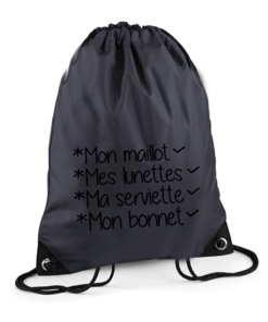 Sac Piscine Anthracite
