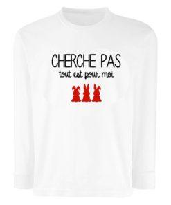 T-Shirt Enfant Manches Longues Cherche pas...